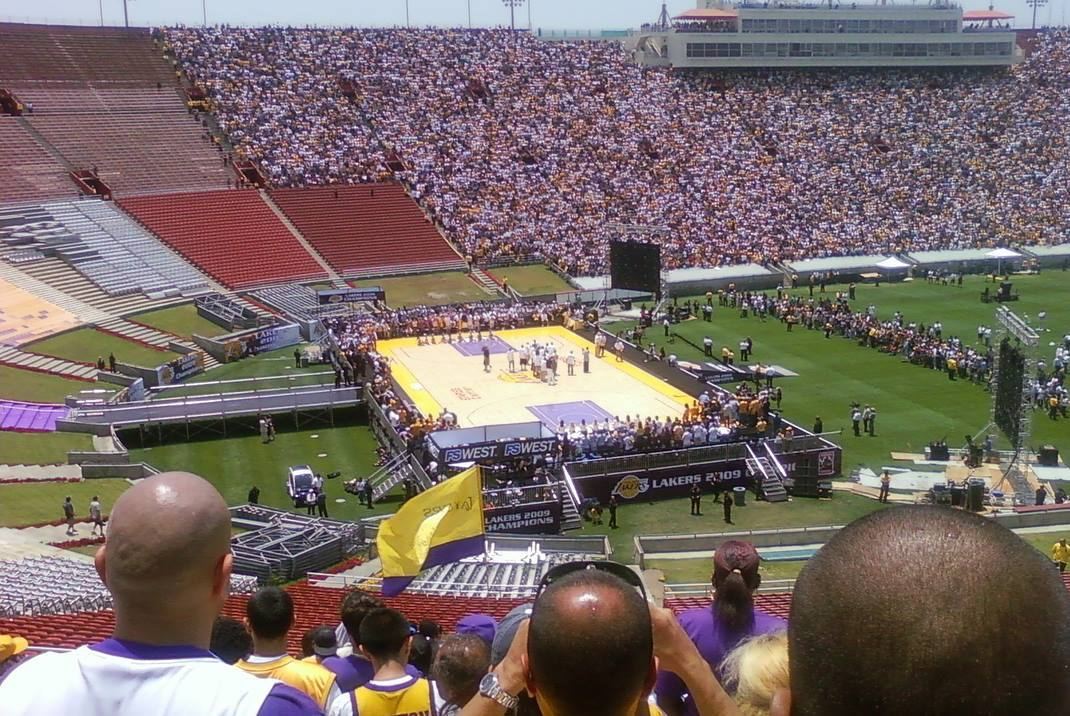 Lakers 2009 Victory Rally at the LA Coliseum
