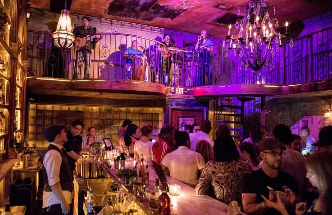 Live salsa band at La Descarga