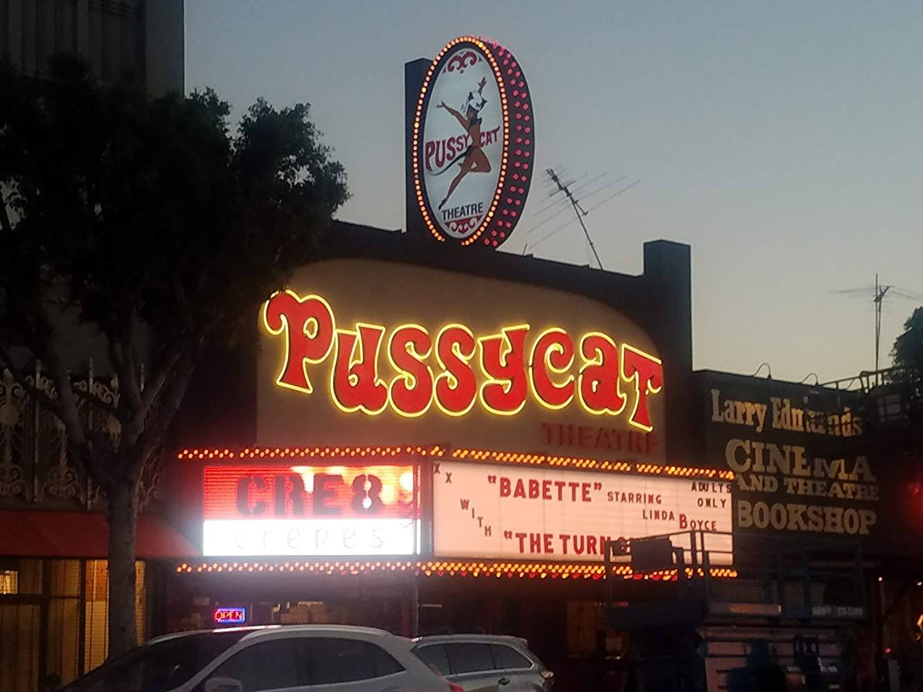 Pussycat Theatre being prepped for Once Upon a Time in Hollywood