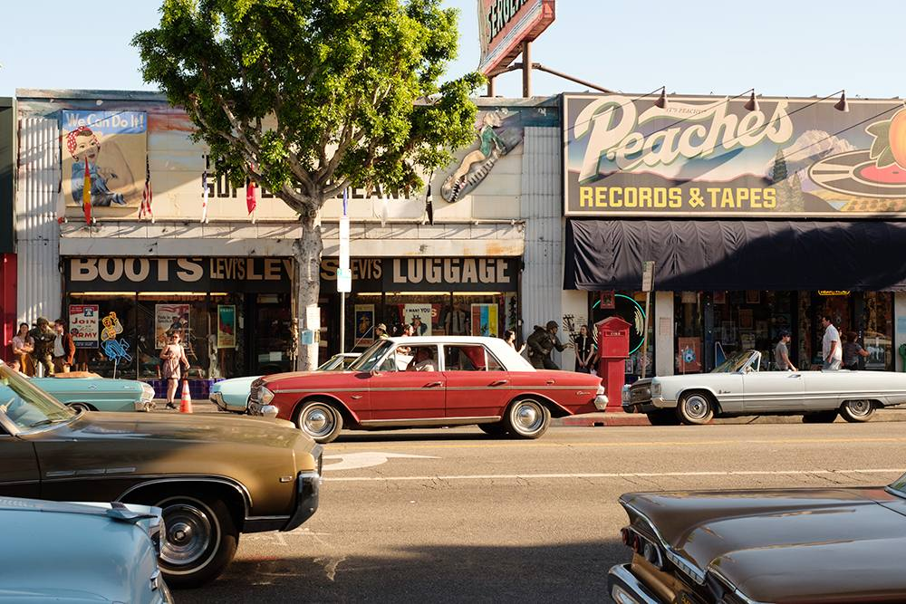 Vintage facades created for Once Upon a Time in Hollywood