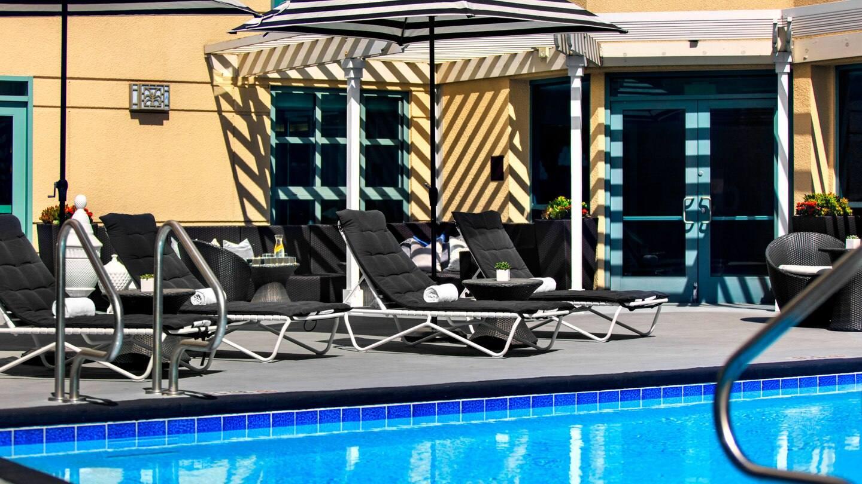 Outdoor pool at Renaissance LAX Hotel