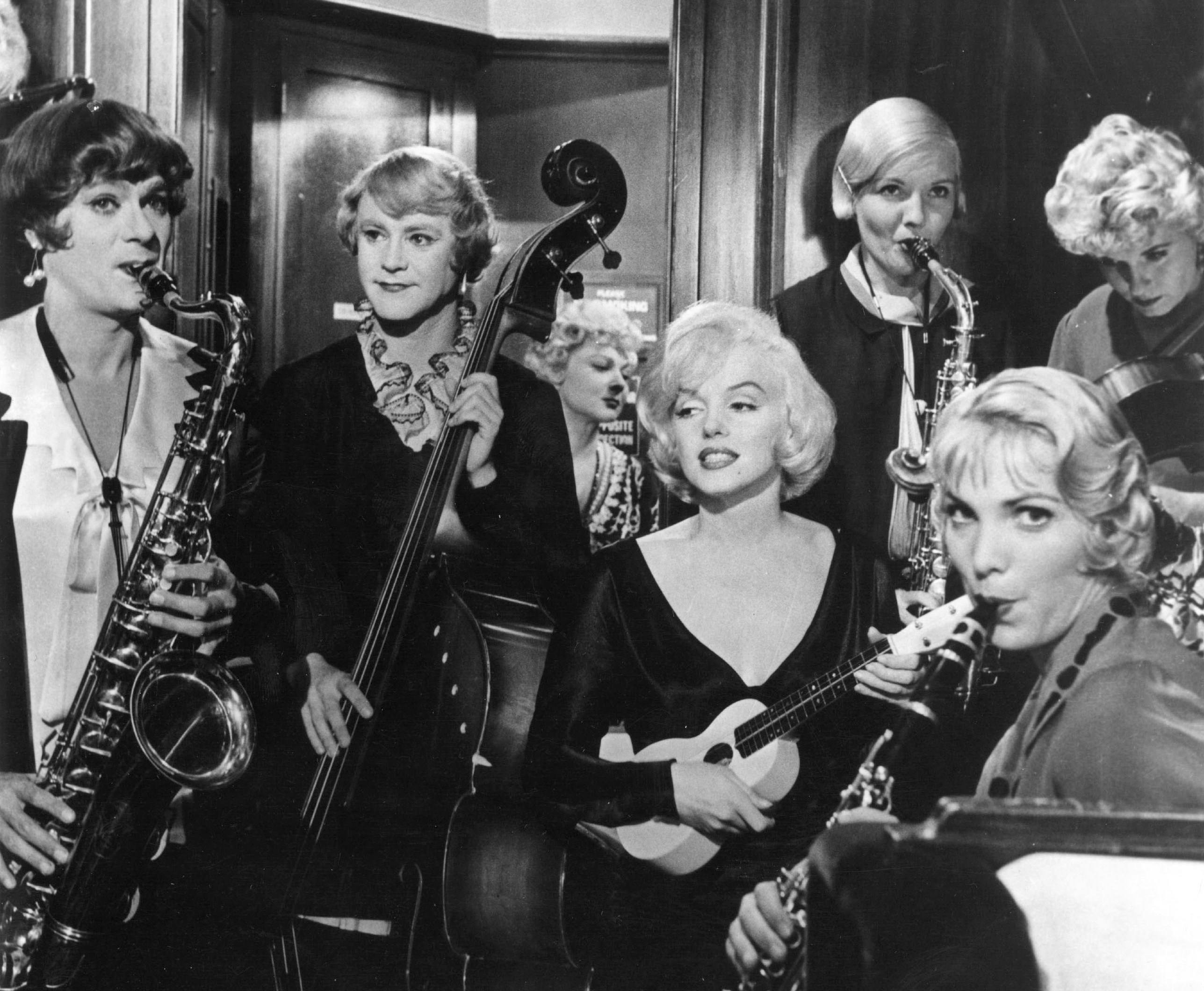 """Some Like It Hot"" starring Marilyn Monroe, Tony Curtis and Jack Lemmon"
