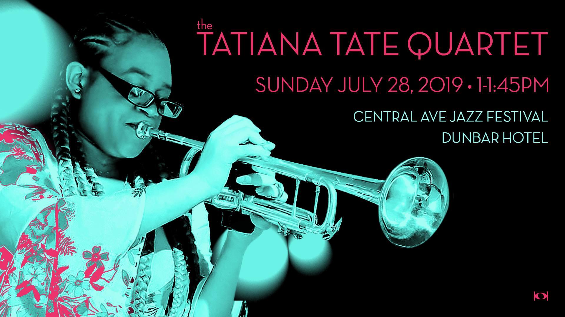 Tatiana Tate Quartet at the Dunbar Hotel July 2019