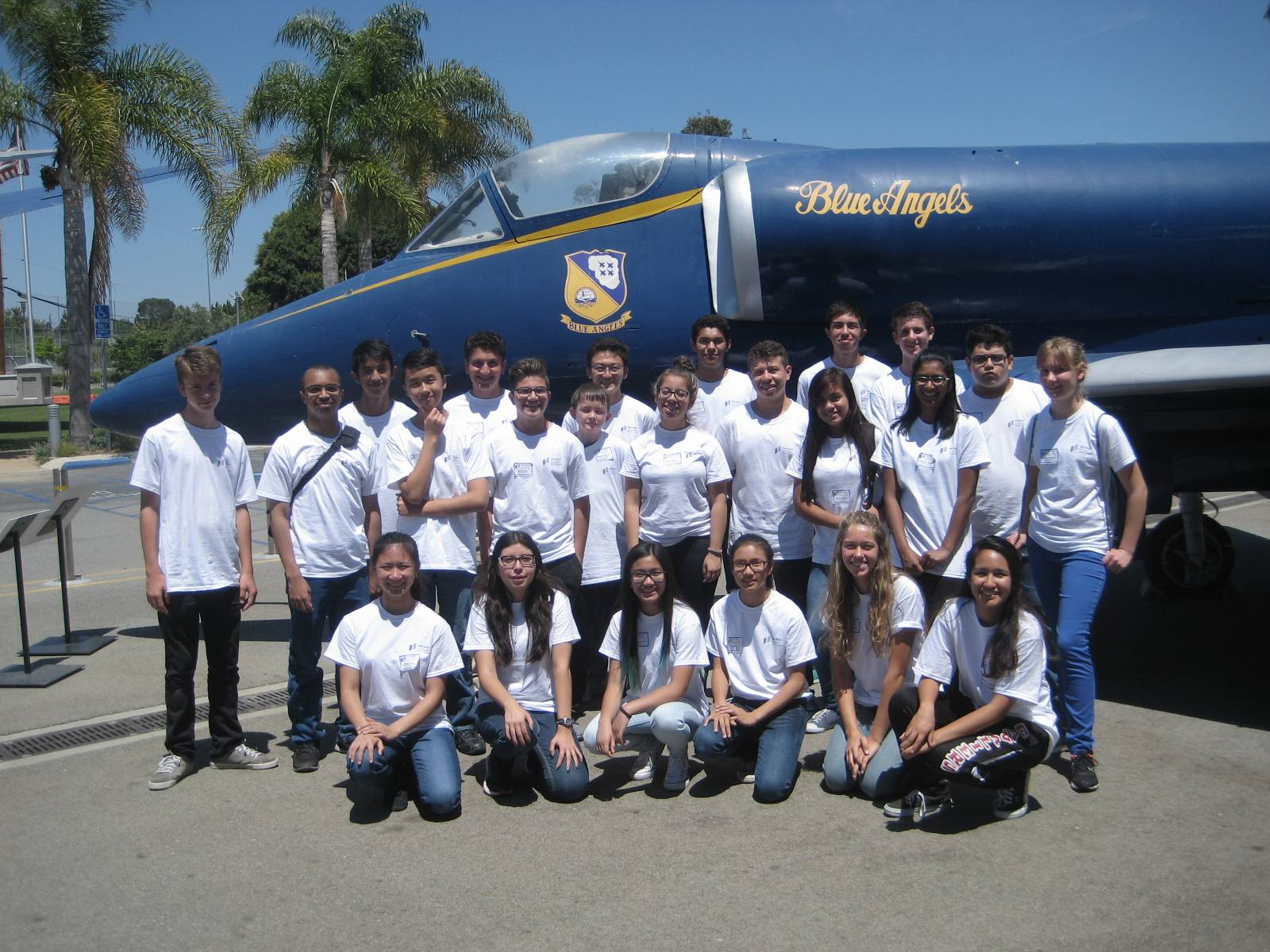 Aviation Careers Education (ACE) Academy students at Van Nuys Airport