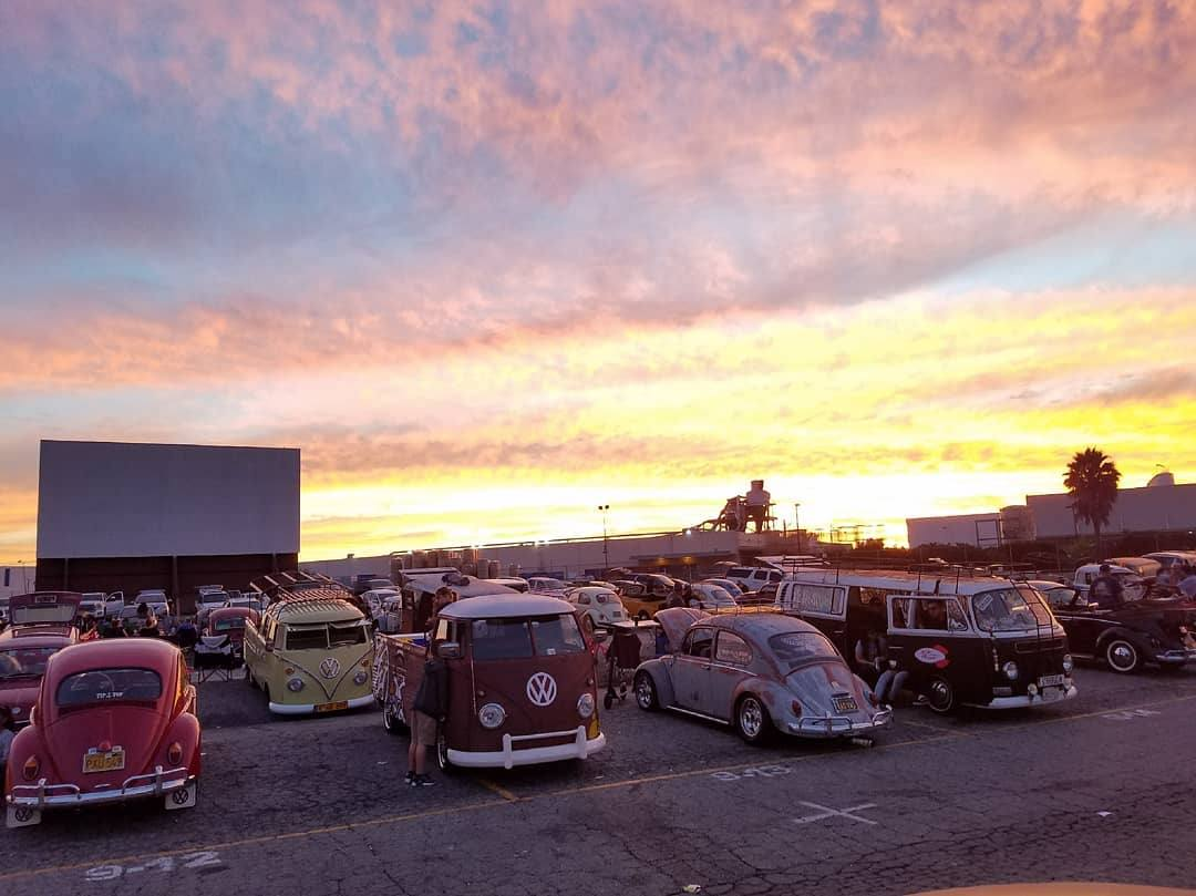 Waiting for the movie to start at the Vineland Drive-In