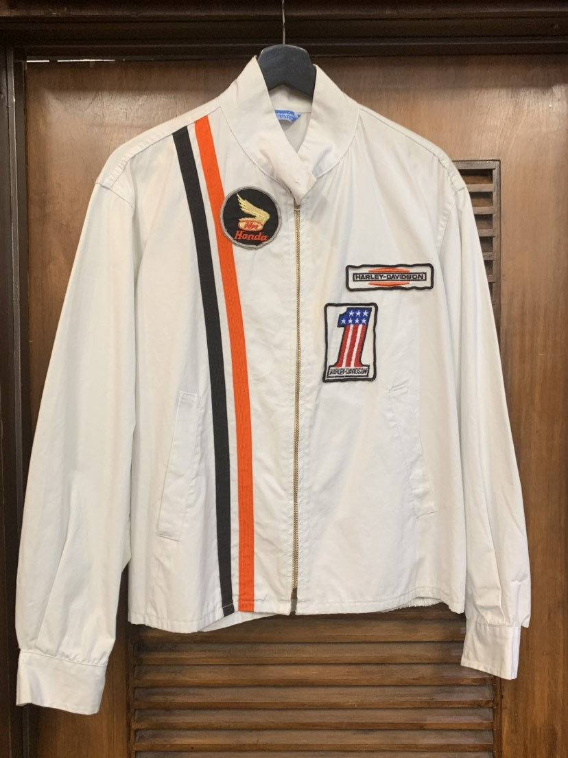 "1960s men's ""Champion"" label motorcycle jacket"