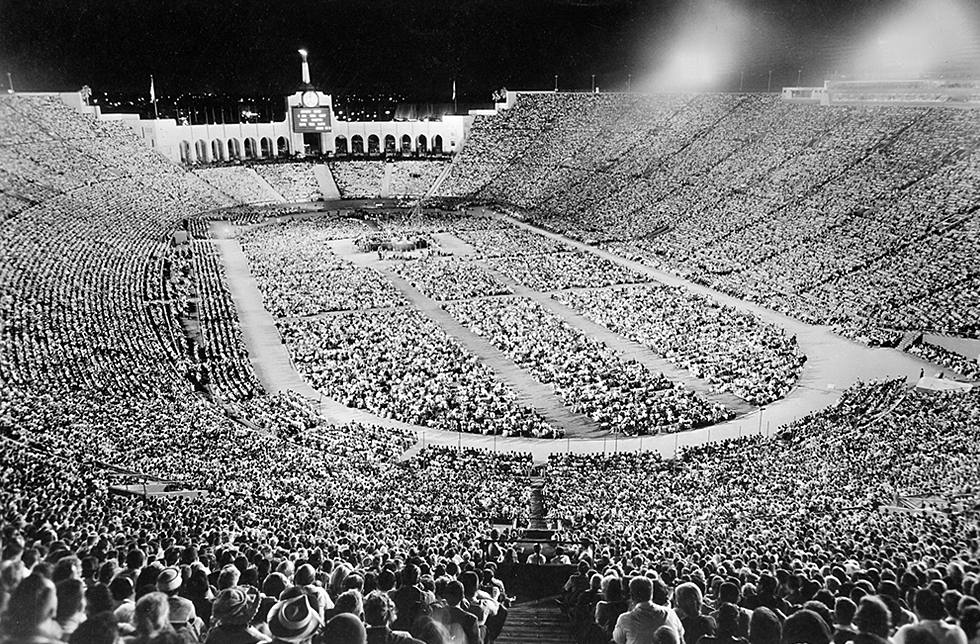 Billy Graham Crusade at Los Angeles Memorial Coliseum in 1963