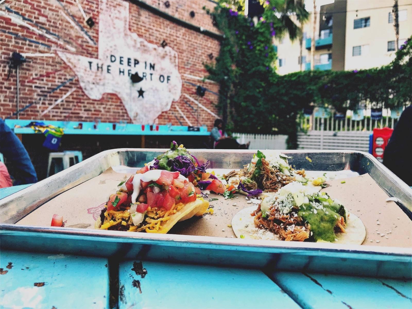 Tacos at El Tejano Tex Mex in the NoHo Arts District