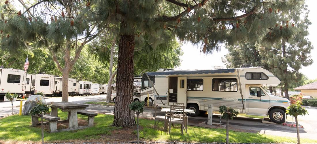 RVs at the Fairplex KOA Campground