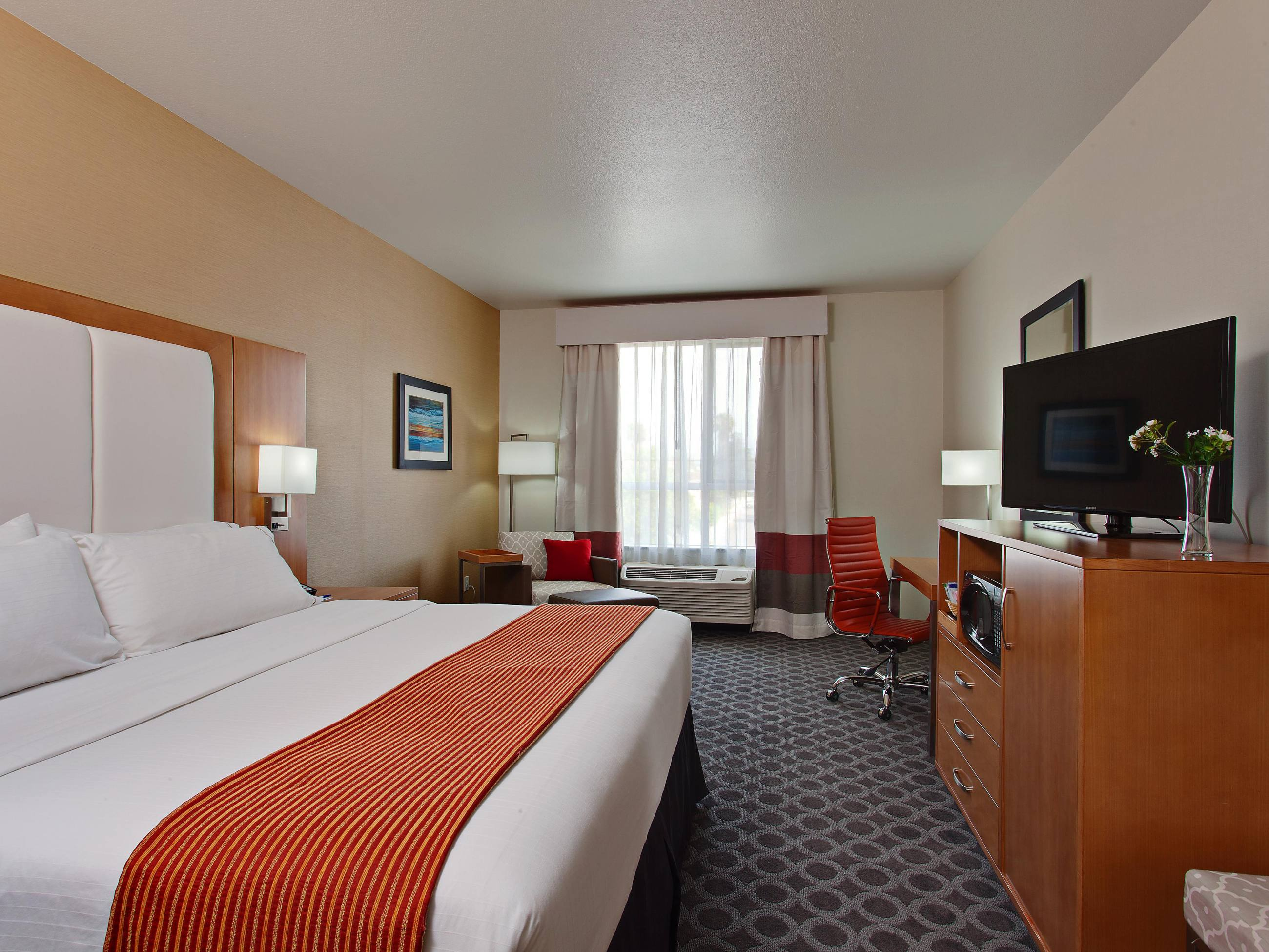 King Bed Guest Room at Holiday Inn Express North Hollywood - Burbank Area