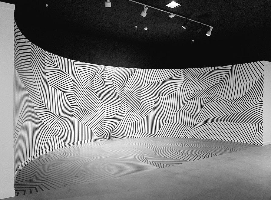 """""""Emergence"""" tape art installation by Darel Carey at the LA County Fair"""