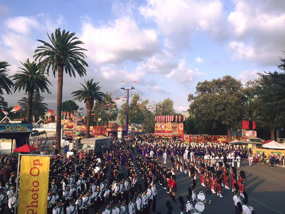 High School Marching Band Competition at the LA County Fair