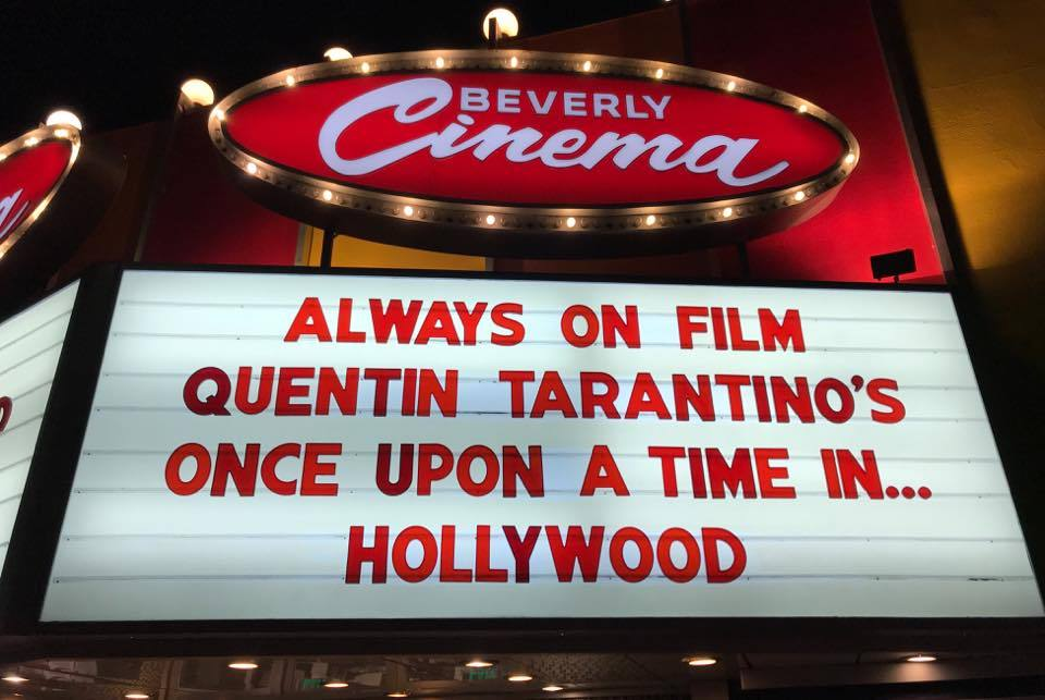 """Once Upon a Time in Hollywood"" at New Beverly Cinema"