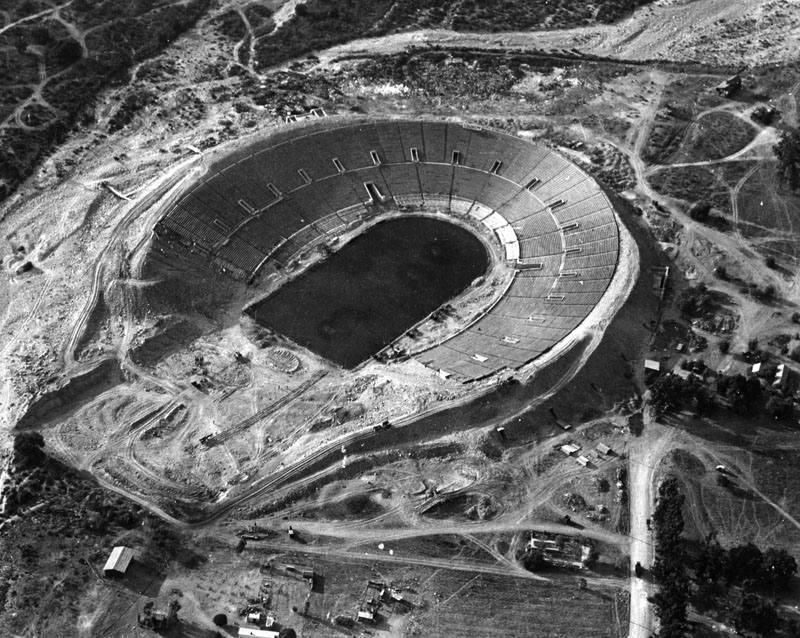 Rose Bowl Stadium under construction in 1921