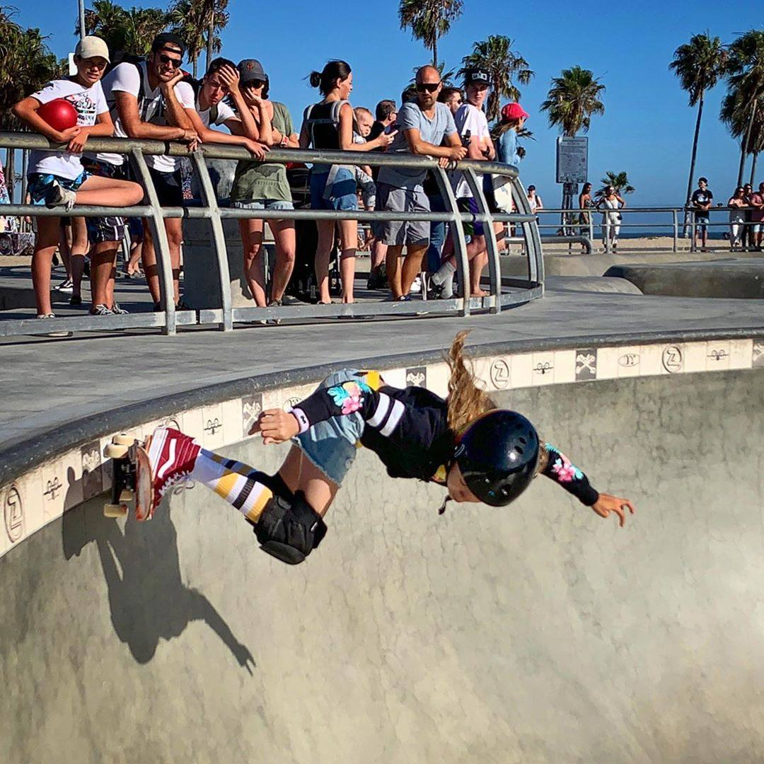 Quinne Daniels in action at Venice Beach Skate Park