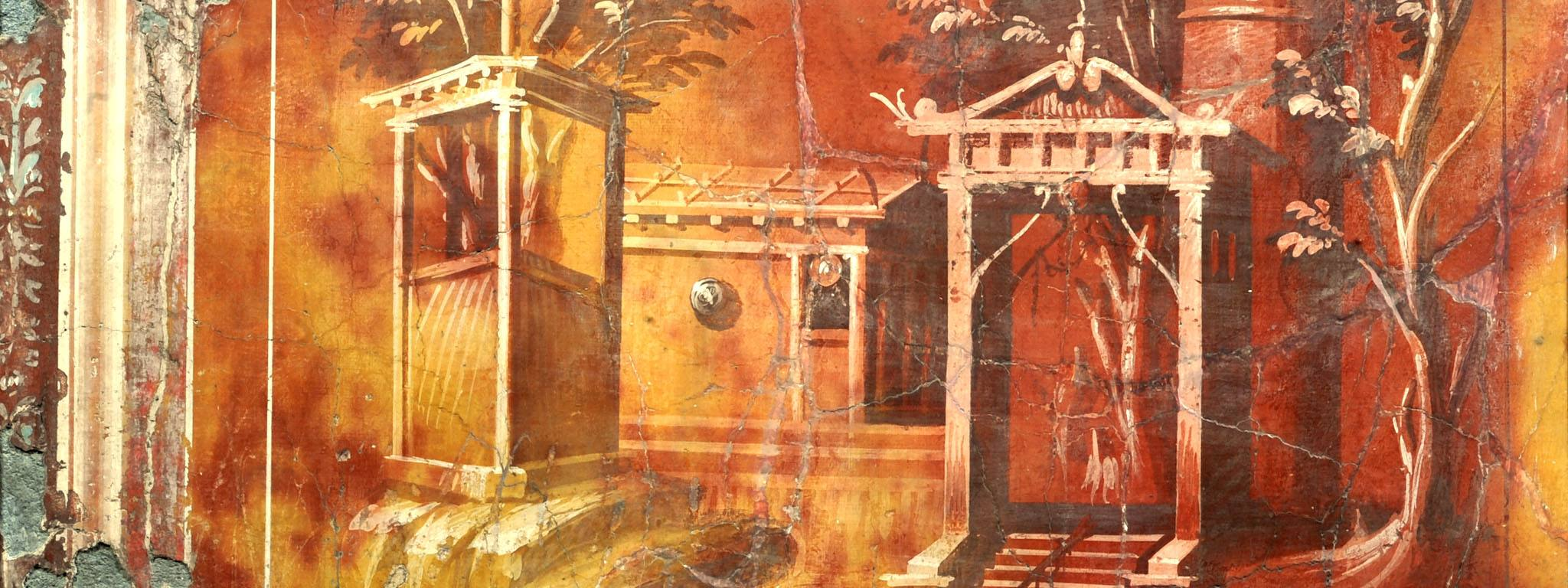 "Fresco from ""Buried by Vesuvius"" at the Getty Villa"