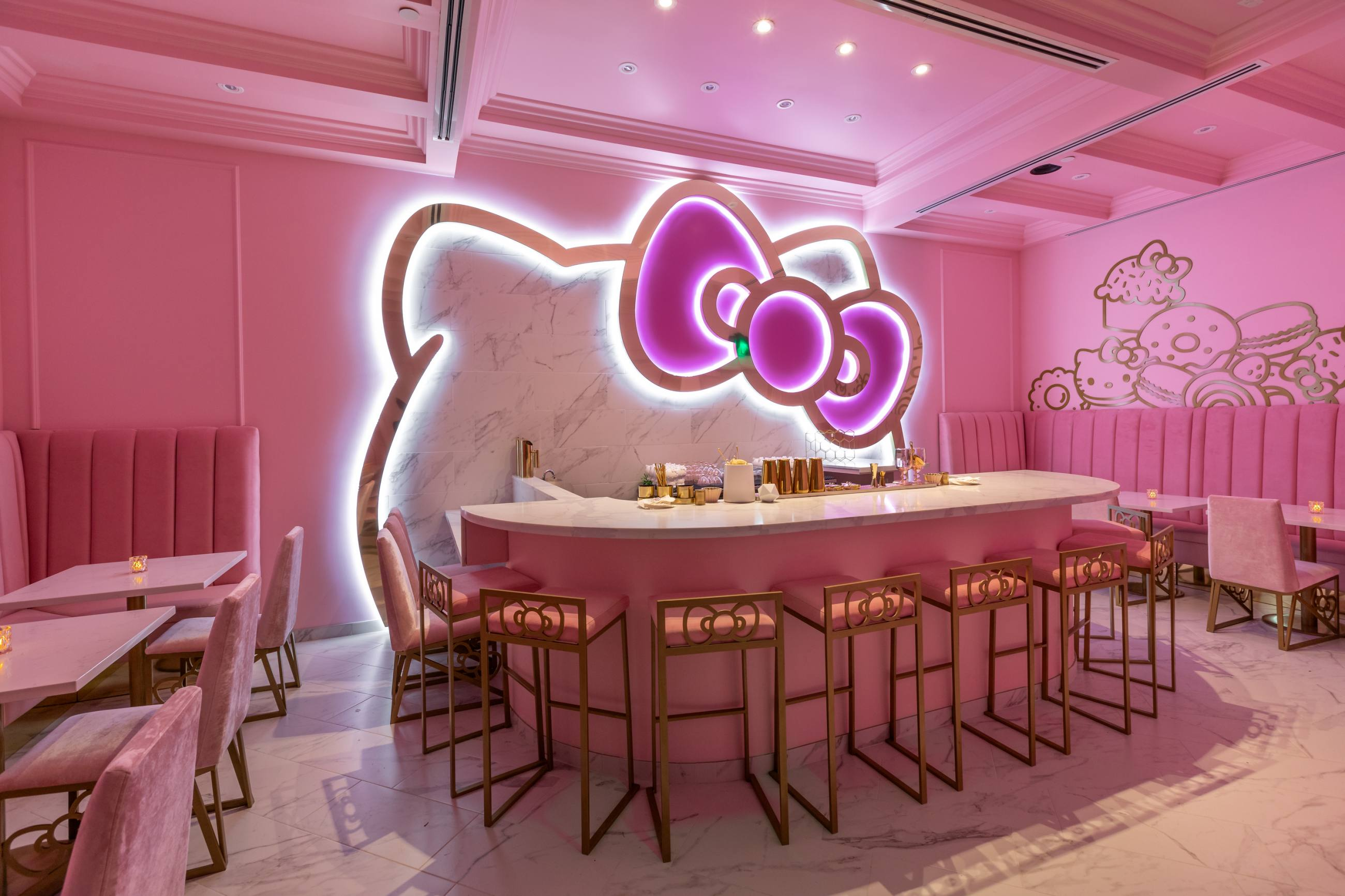 The Bow Room at Hello Kitty Grand Cafe in Irvine