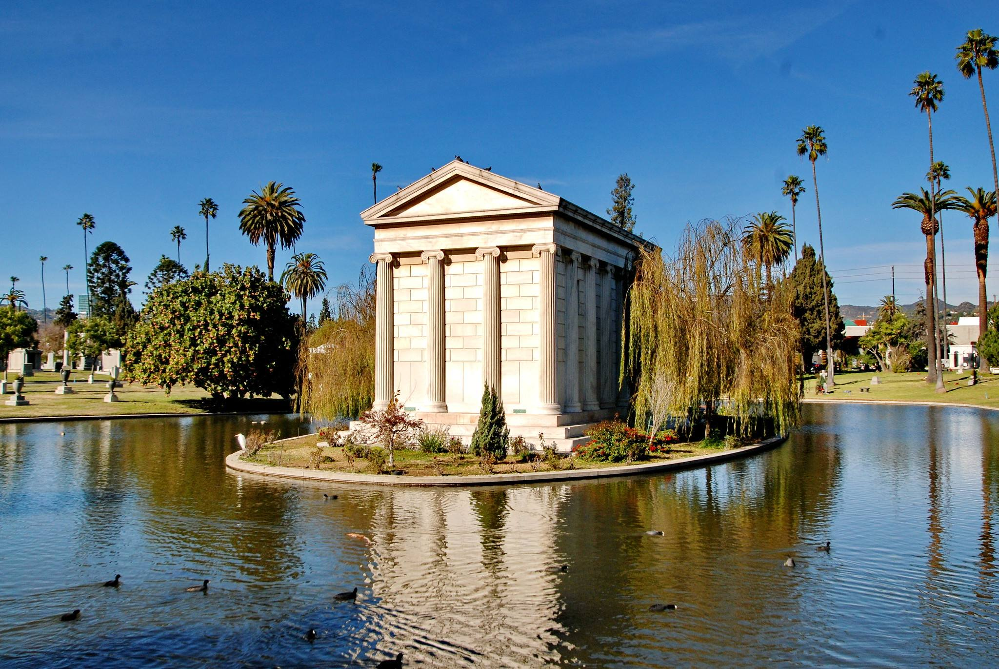 Clark Family Mausoleum at Hollywood Forever | Photo: Michael Locke, Discover Los Angeles Flickr Pool