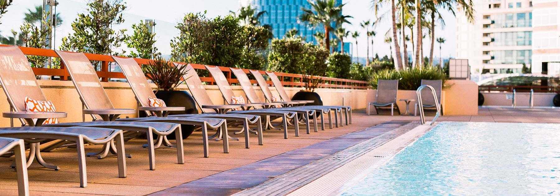 Pool at the InterContinental Los Angeles Century City at Beverly Hills