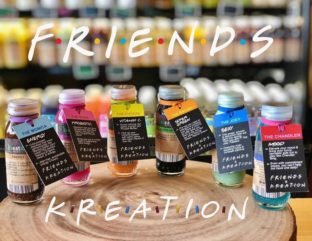 """Friends""-inspired tonic shots at Kreation Juice"
