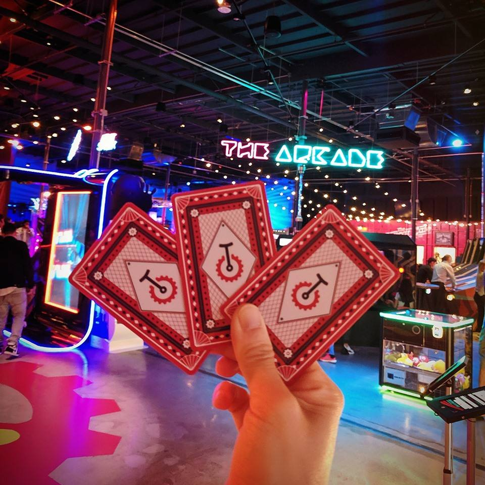 Playing Cards at Two Bit Circus
