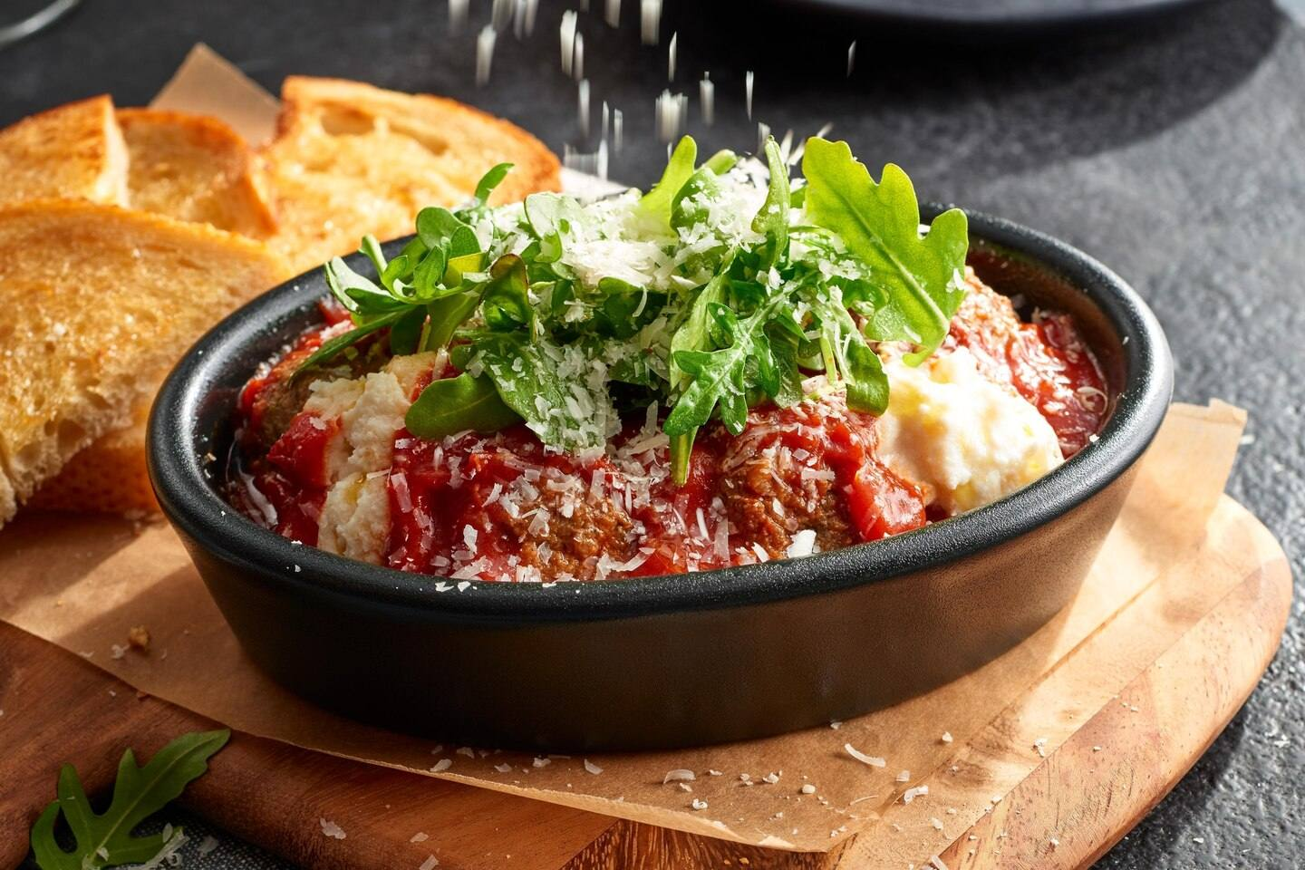 Skillet Meatballs at Bistro in the Courtyard by Marriott Century City/Beverly Hills