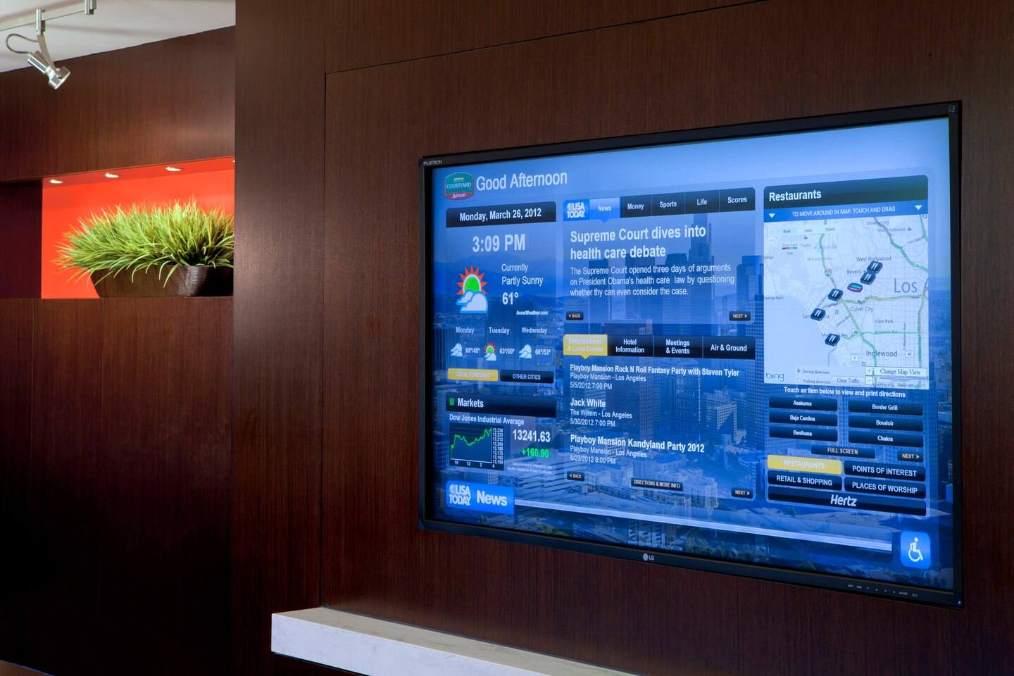 GoBoard at Courtyard by Marriott Century City/Beverly Hills