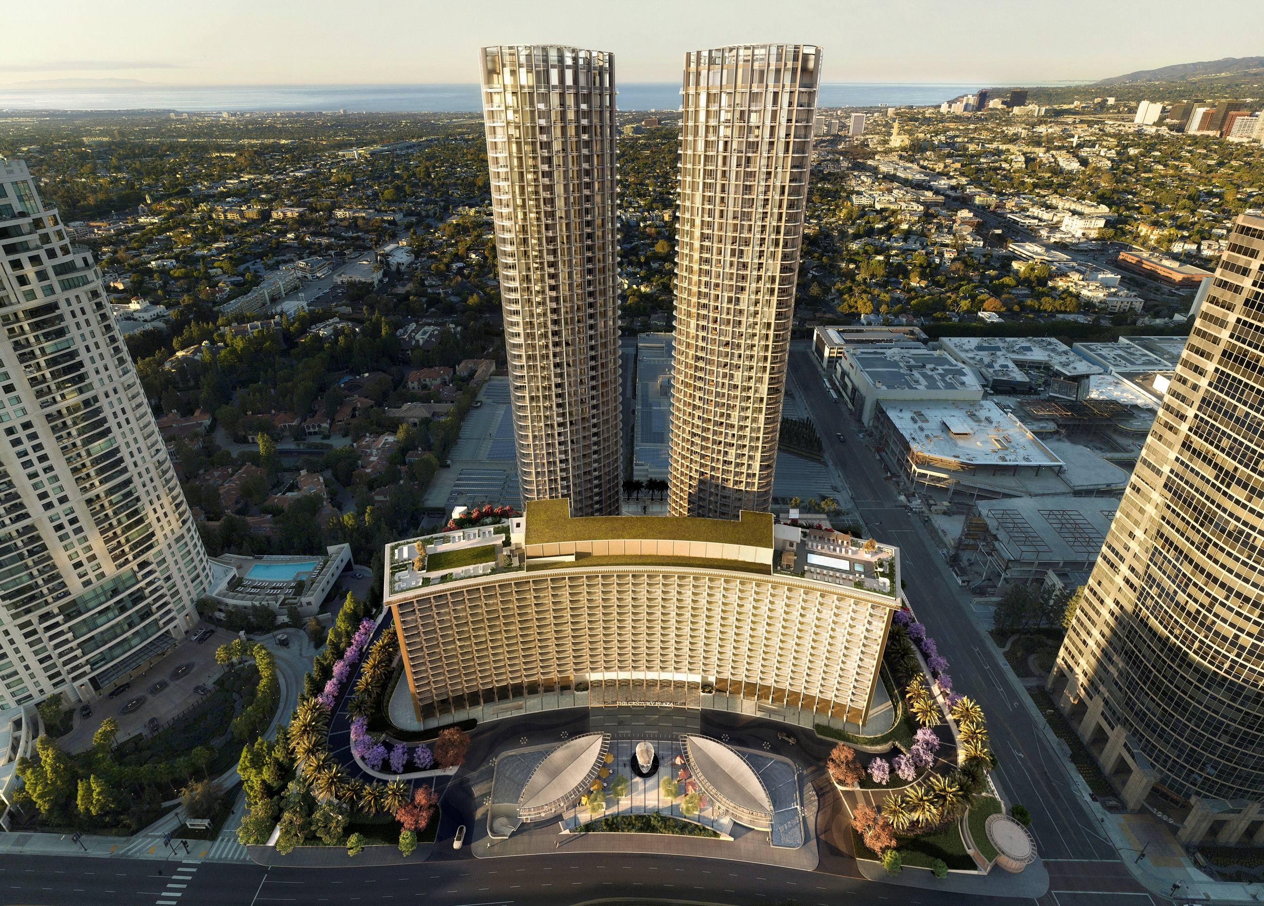 Rendering of the Fairmont Century Plaza