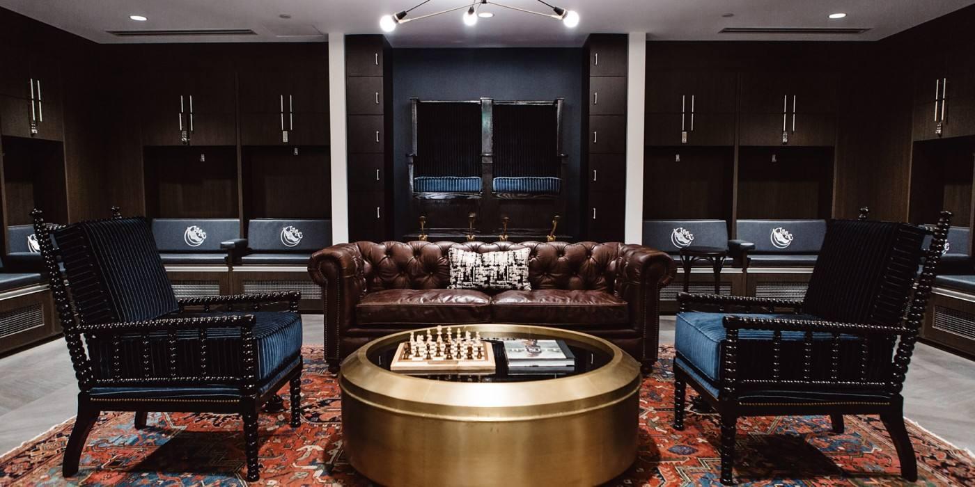 Gentlemen's Locker Room at Los Angeles Athletic Club