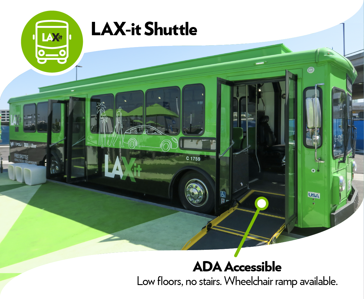 LAX-it Shuttle with wheelchair ramp