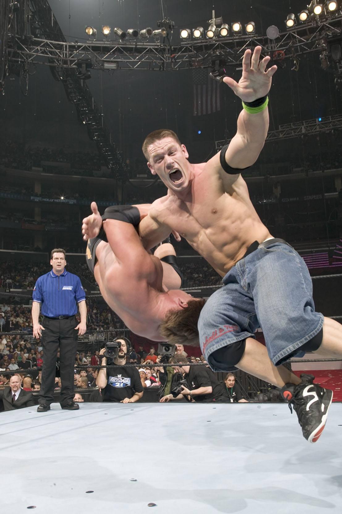 John Cena at WrestleMania 21 in 2005