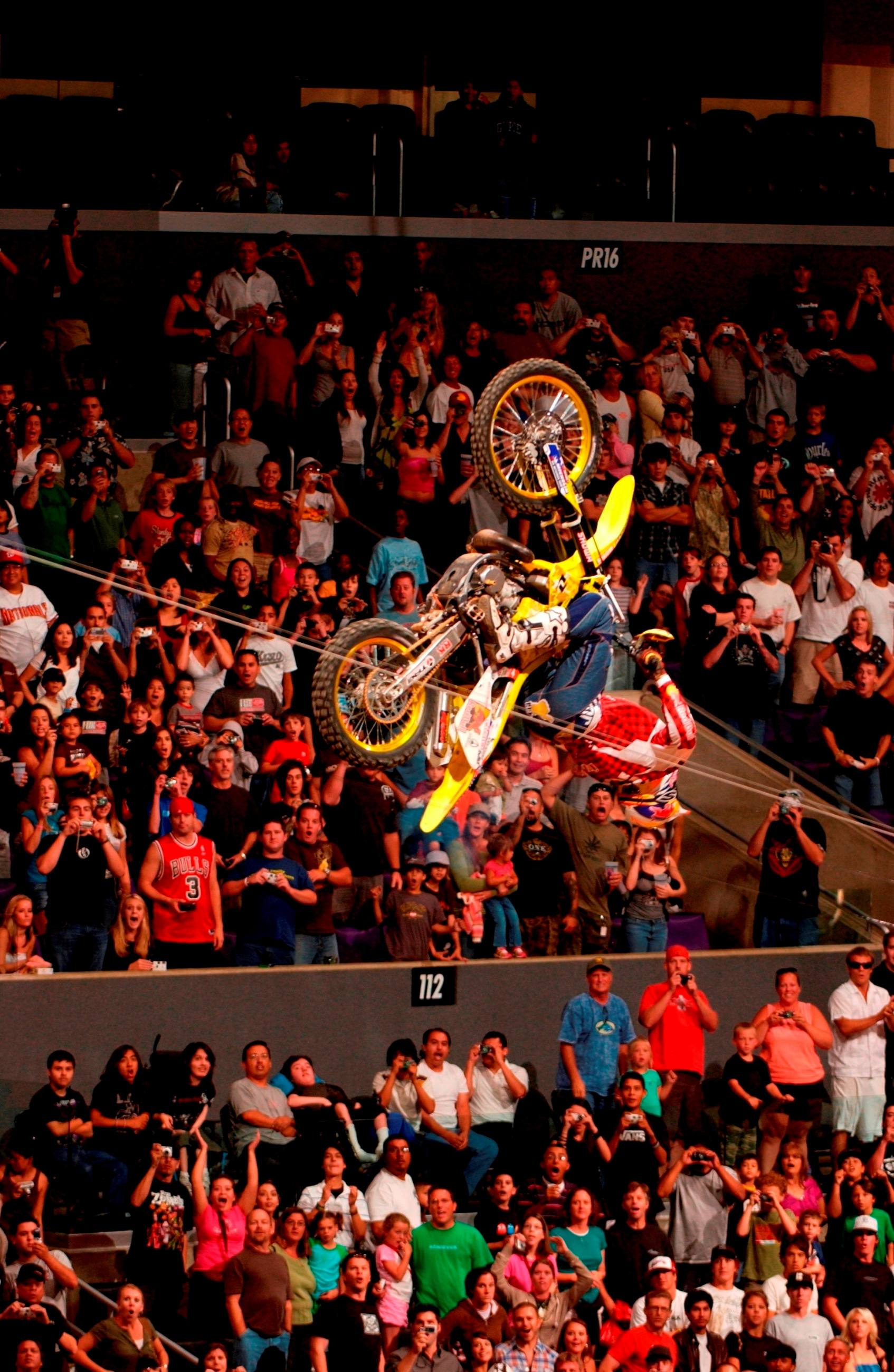 Travis Pastrana lands a Double Backflip at X Games 12 in 2006