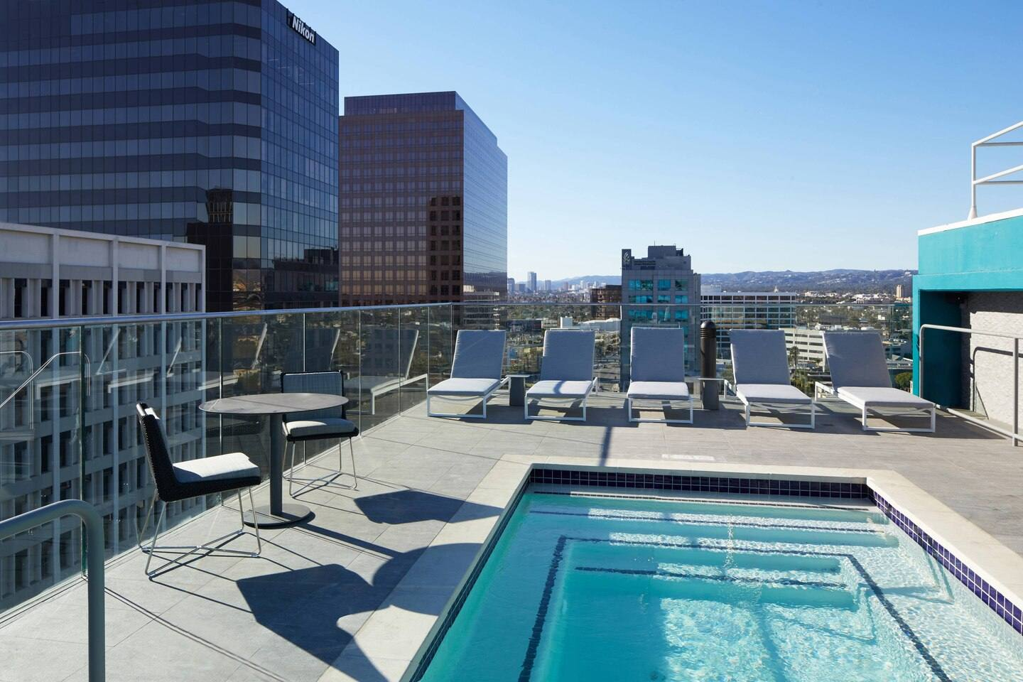 Rooftop wading pool at the AC Hotel Beverly Hills
