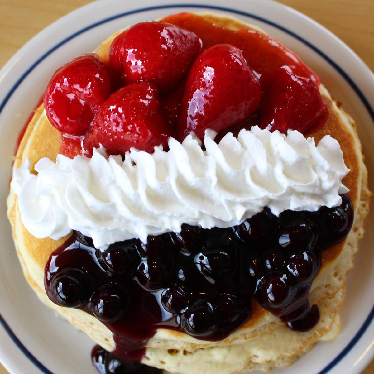 Red, White & Blueberry pancakes at IHOP for Veterans Day