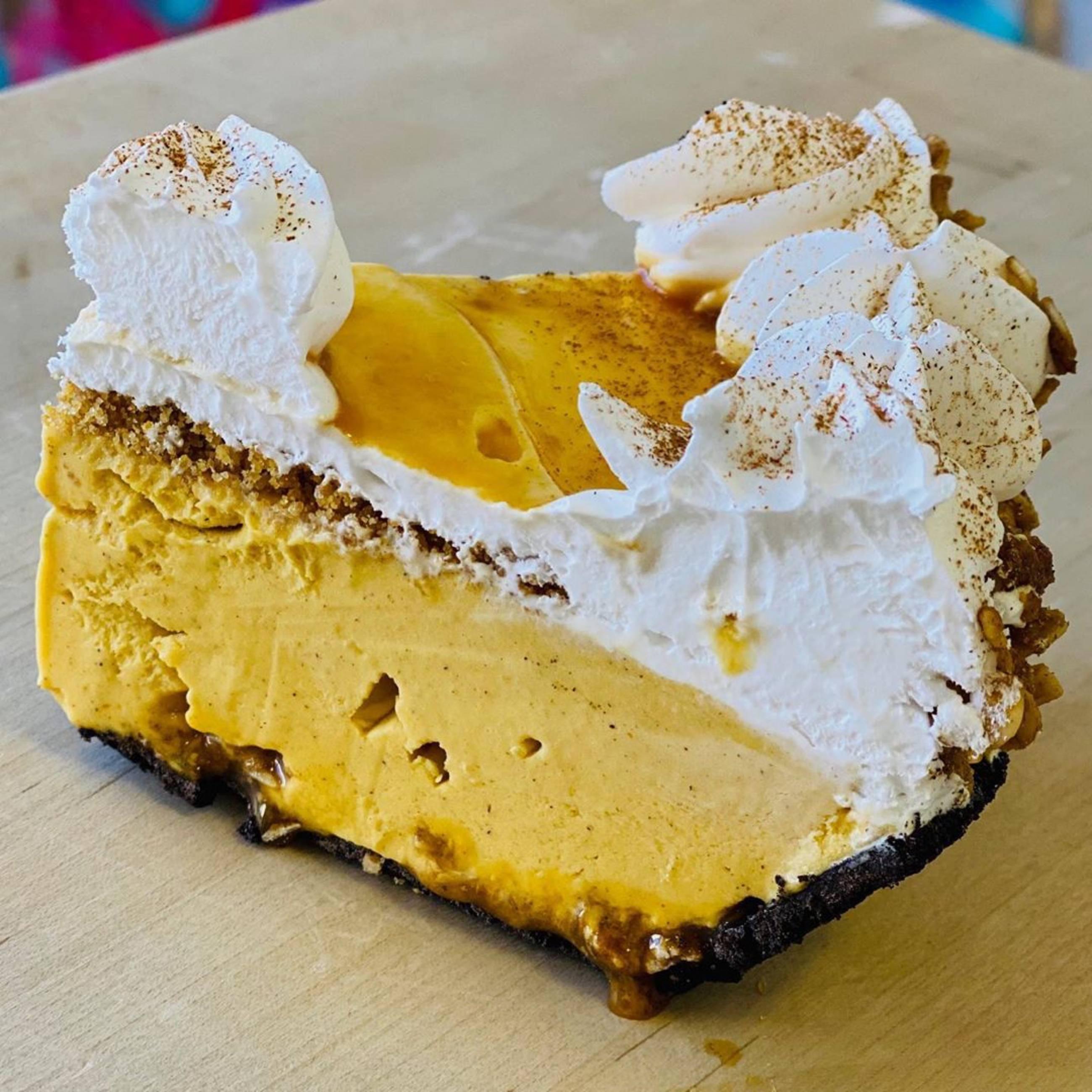 Pumpkin Softserve Pie at Magpies Softserve