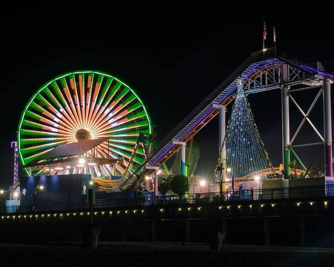 Holidays on the Santa Monica Pier