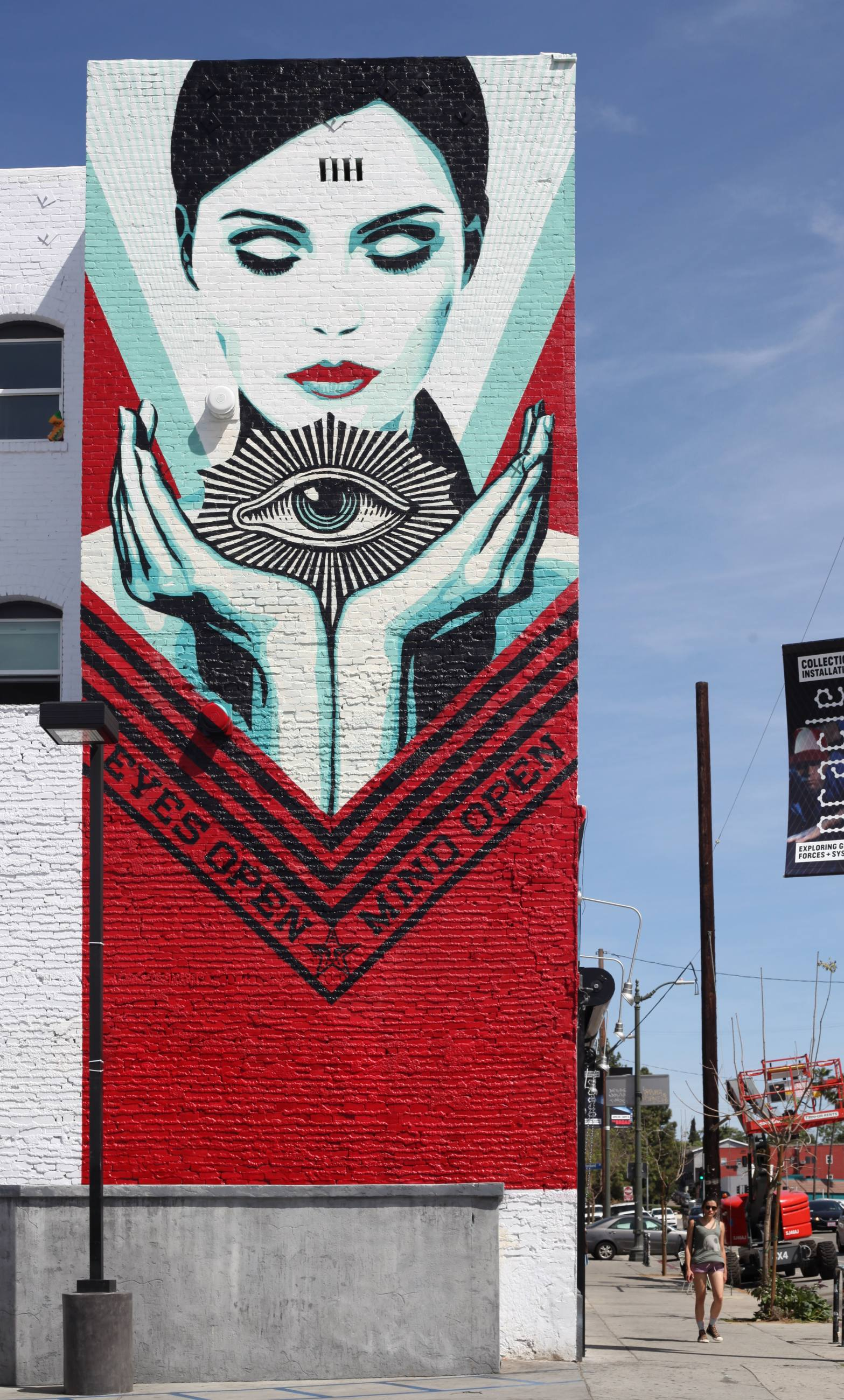 """Eyes Open, Mind Open"" by Shepard Fairey 