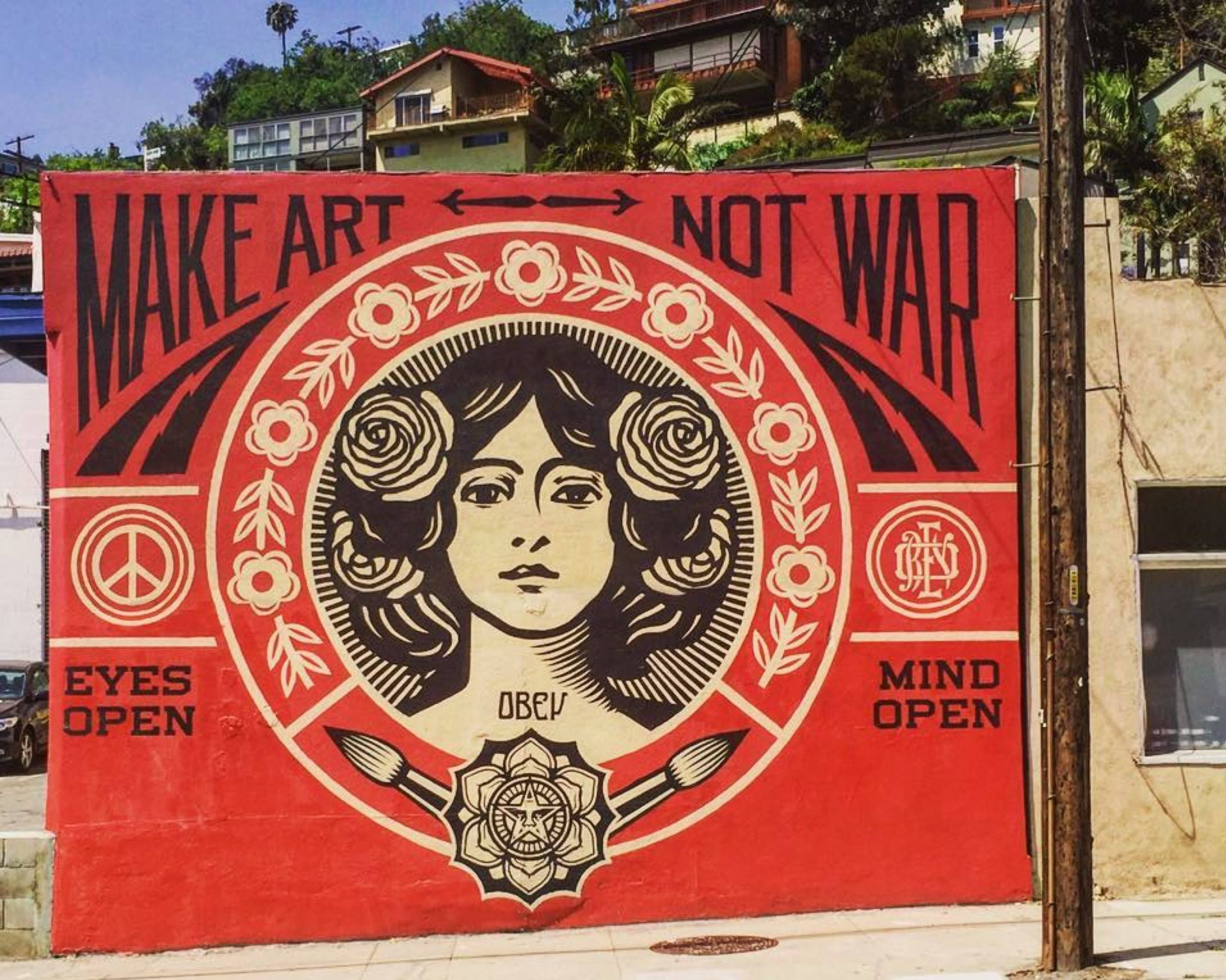 """Make Art, Not War"" by Shepard Fairey 