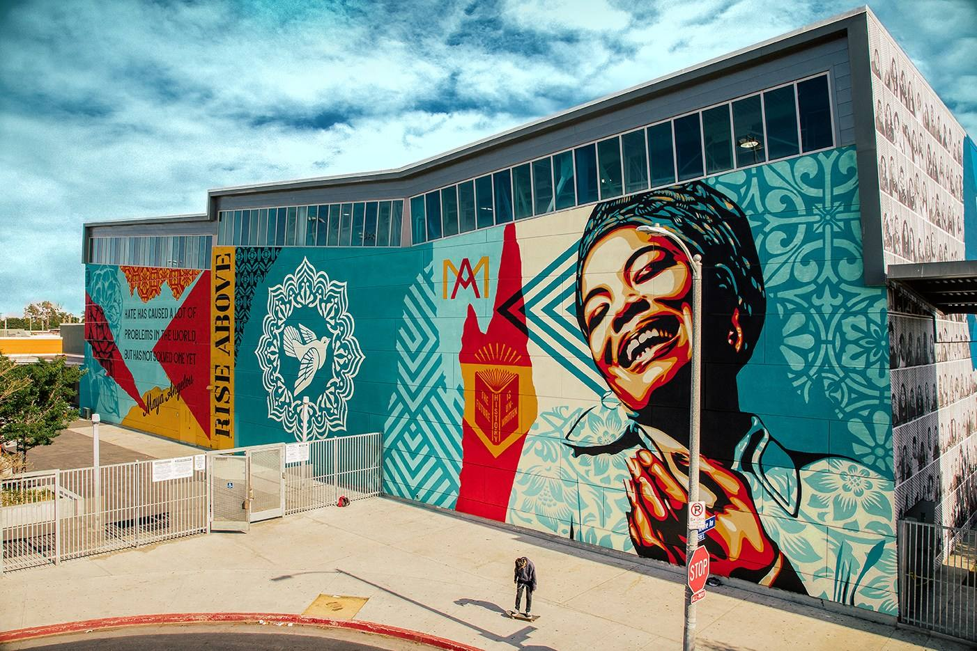 """Maya Angelou Rise Above"" by Shepard Fairey 