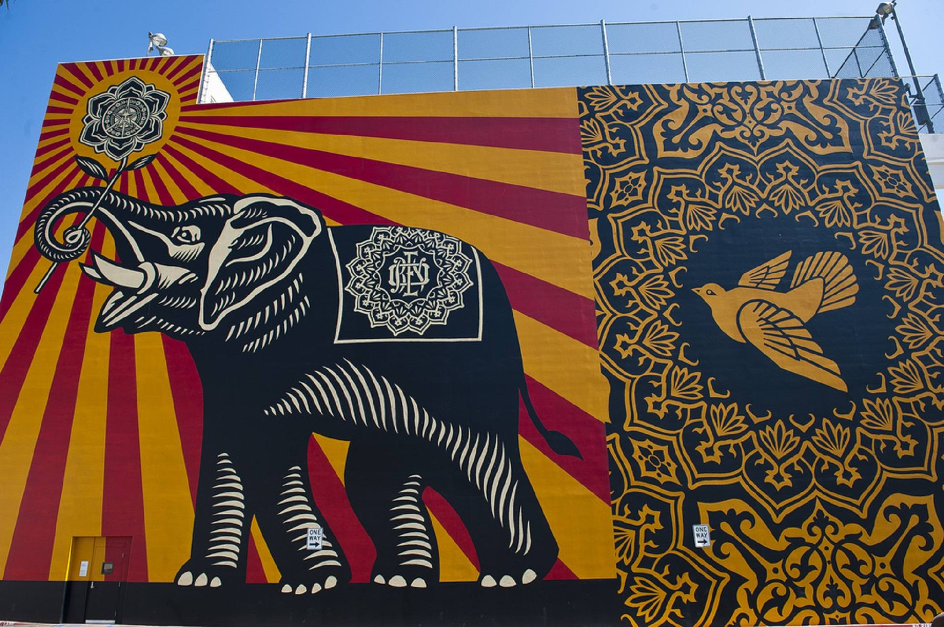 """Peace Elephant"" by Shepard Fairey 