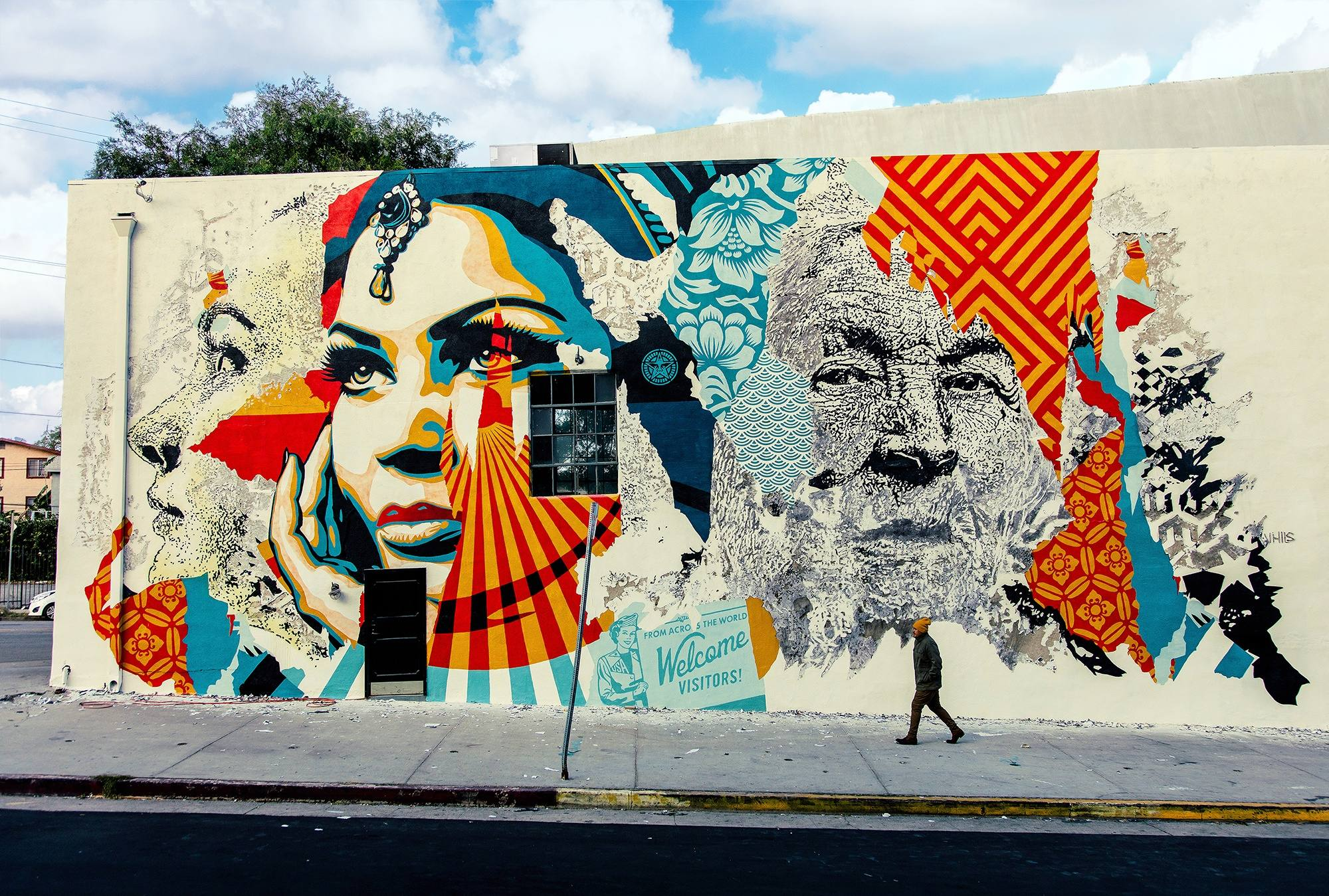 """American Dreamers"" by Shepard Fairey and Vhils 