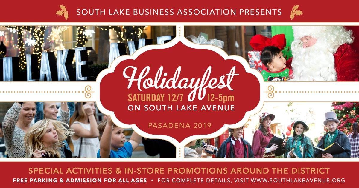 South Lake Avenue Holidayfest 2019