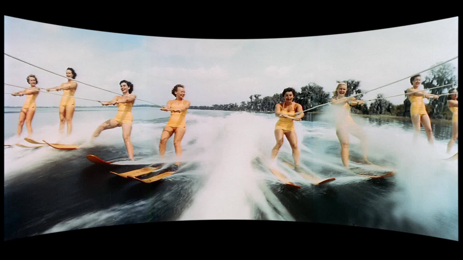 """Water skiing show at Cypress Gardens from """"This is Cinerama"""" (1952)"""