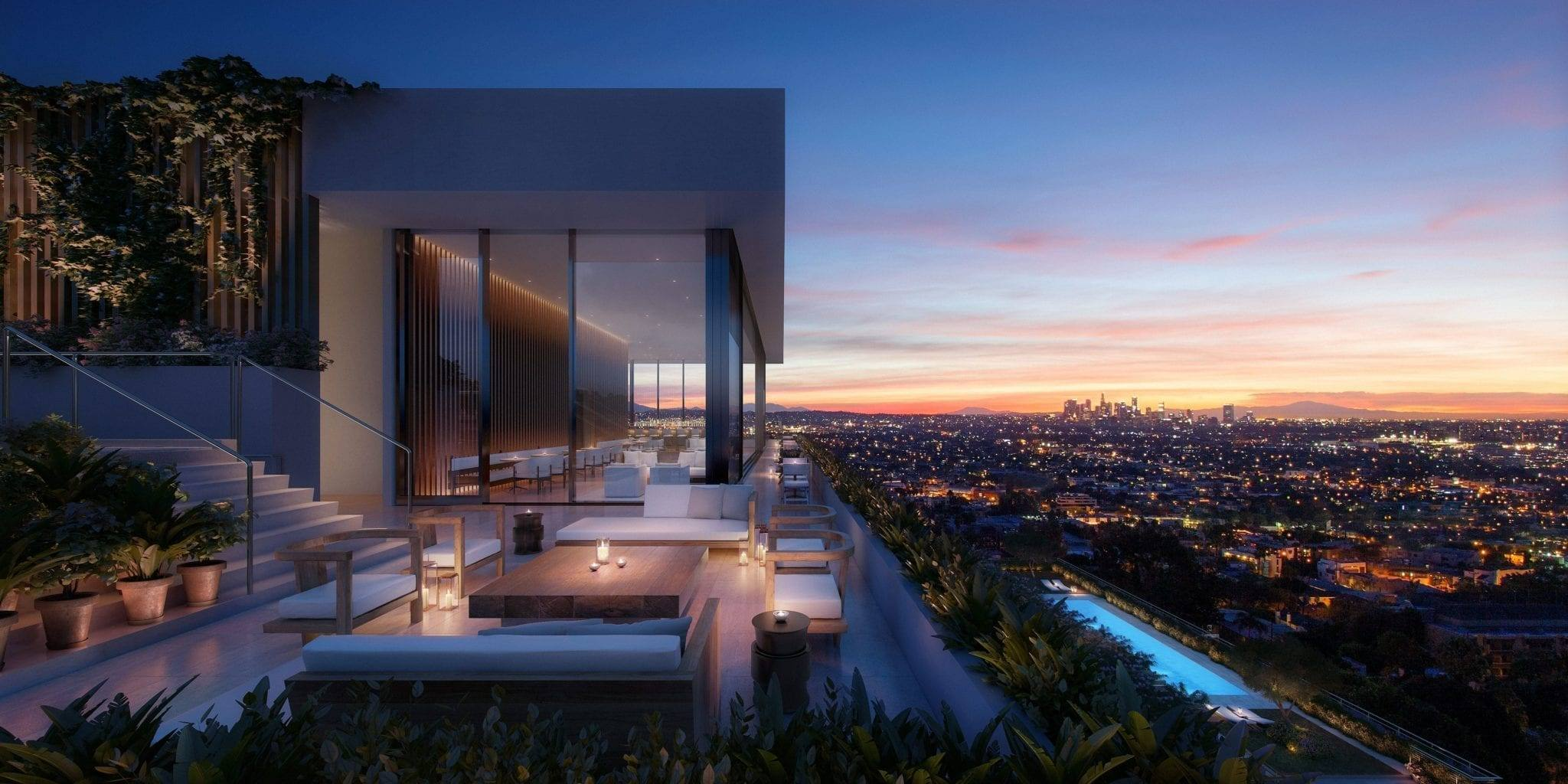 Sunset view from the West Hollywood EDITION