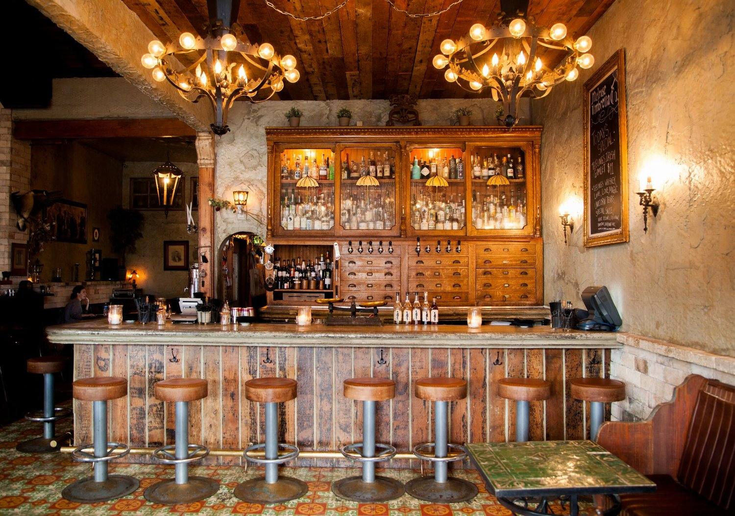 Front bar at Melrose Umbrella Co. in West Hollywood
