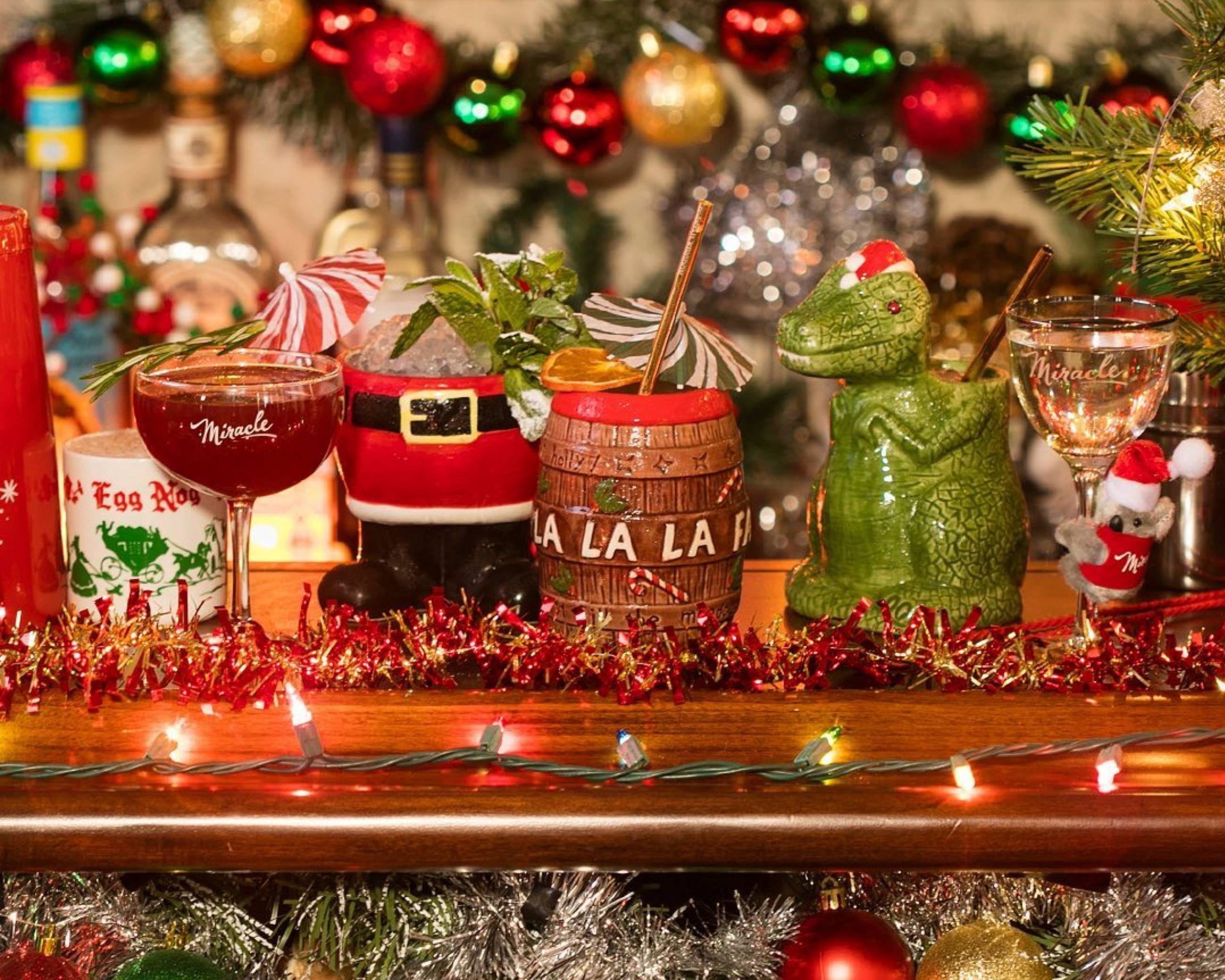 Holiday cocktails at Miracle On Melrose in West Hollywood