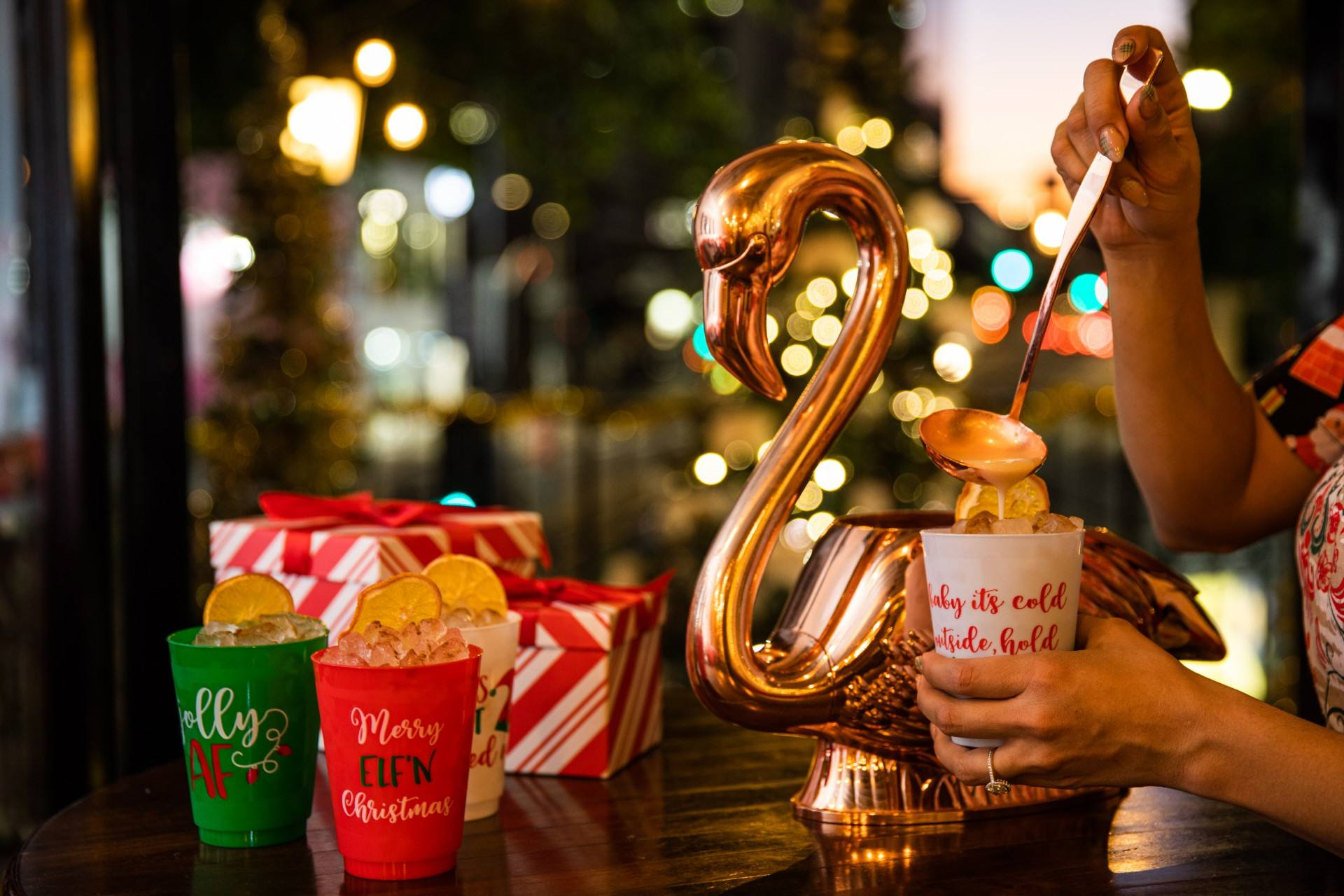 Happy Swanzaa holiday punch at Preux & Proper: Sleigh Bells On Spring in Downtown LA