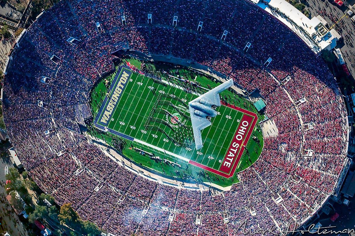 B-2 Stealth flyover at the 105th Rose Bowl Game