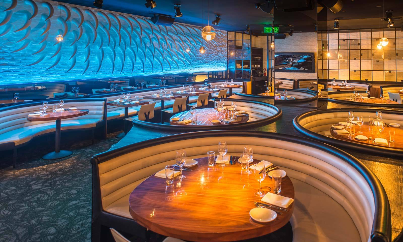 Dining room at STK Steakhouse in the W Los Angeles - West Beverly Hills
