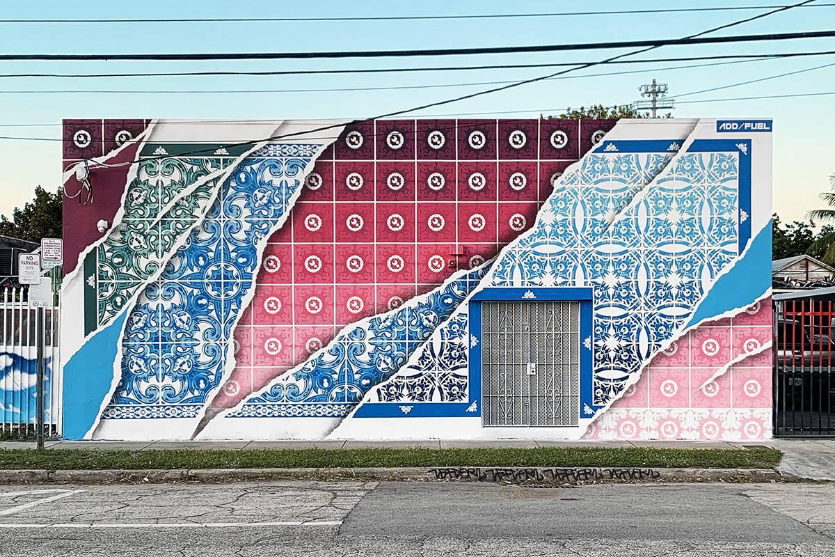 """Policromatico"" mural in Miami by Add Fuel"